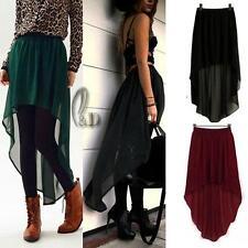 AU SELLER Celeb Style Uneven Hem Soft Chiffon Skirt Size S-L dr123