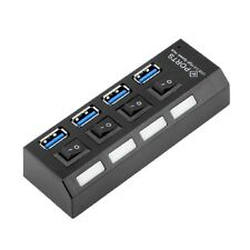 Newest 4 Ports USB HUB With On/Off Switch For Laptop PC Accessories Black