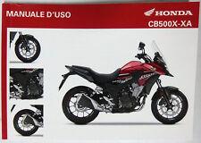 Manual de Usuario Manuale D'Uso Honda CB500X / XA 00X4L-MJW-D100