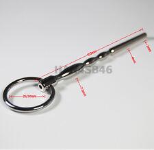 NEW THRU-HOLE Male Urethral Sounds Stainless Steel Plug Dilator 103mm Beginner