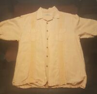 Embroidered Tommy Bahama Mens Button Down Shirt L