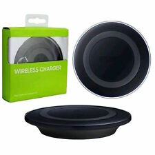 Qi Wireless Charger Charging Pad Dock Station for Samsung Galaxy S6 S7 Edge BLK