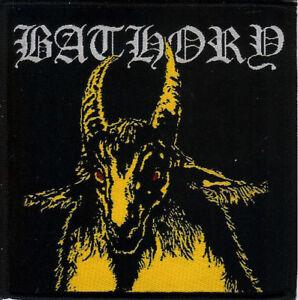 Bathory Yellow Goat Patch Quorthon Venom Black Metal Manowar Viking Amon Amarth