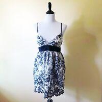 Womens Forever 21 Black White Floral Sun Dress Sleeveless Large