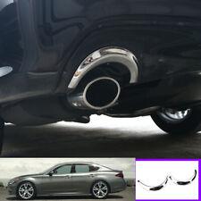 For infiniti Q70 Q70L 2014-20 Chrome steel car Tail exhaust pipe ring trim 2pcs