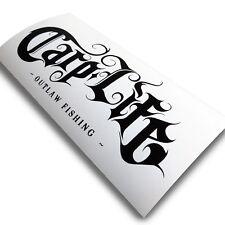 Big Kippers 'CARP LIFE' Original Black Fishing Decal Car Sticker | FREE p&p