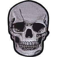 Skull Iron On Patch Sew On Mens Womens Boys Girls Kids Clothes Embroidered Badge