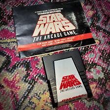 EXC CLEAN Star Wars Arcade Game & Manual TESTED Atari 2600