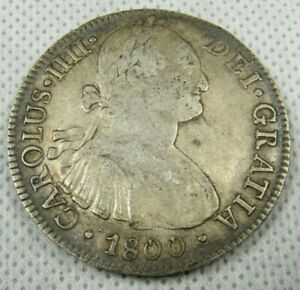 1800 FM Silver Mexico 8 Reales Coin