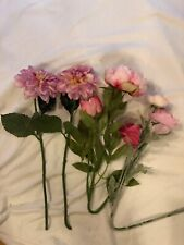 Artificial Mixed Floral Stems Set Pink
