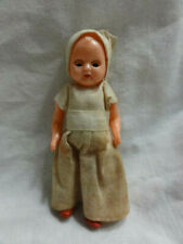 "VINTAGE SMALL CELLULOID DOLL Baby Dollhouse Girl Jointed Blinking Eyes 3"" tall"