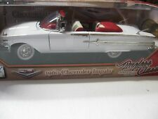 1:18 SCALE MOTORMAX 1960 CHEVY IMPALA TIMELESS CLASSICS CONV. DIECAST WHITE