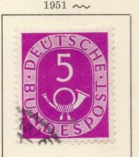 Alemania 1951 Posthorn problema Fine Used 5pf. 225572