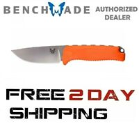 Benchmade Steep Country 15008-ORG Knife, Drop-Point Fixed Blade Plain Edge