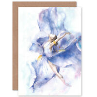 Ballet Dancing Girl Painting Card With Envelope