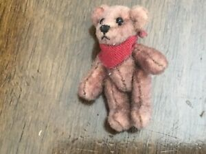 "Miniature  1.5"" Vintage Little  Gems  Jointed Teddy Bear WONDERFUL"