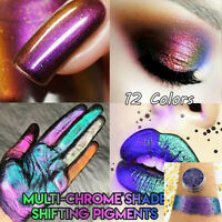 12 Colors Glitter Gradient Multichrome Shade Shifting Pigments Eyeshadow Powder
