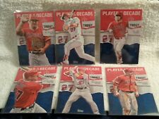 2020 Topps Series 2 MIKE TROUT Player of the Decade lot (6) # 1 4 7 10 19 20