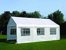 Chapiteau professionnel PVC blanc fenêtres latérales porte enroulable 6x4x3,1...