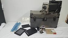 Crown Graphic Pacemaker Graflex with Rsngefinder, Case and Accessories Bundle