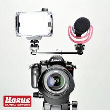 Hague Double Accessory Hot Shoe Mount for DSLR Cameras Lights & Microphones DSB