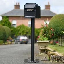Free Standing Post Box Letter Box & Pedestal Stand Plinth - Bundle Offer