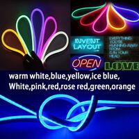 1-5M LED Strip Neon Flex Rope Light Waterproof DC 12V Flexible Outside Lighting