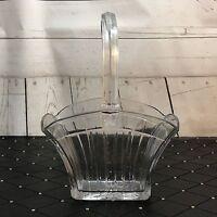Elegant 100 YO Crystal Clear Heisey Glass Recessed Panel Basket