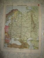 100%Orig. 2WK WH Gebirgsjäger Karte Landkarte EUROPÄISCHES RUßLAND ca. 1943 RAR