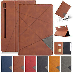 """For Samsung Tab A 8.4"""" 2020 SM-T307 / S6 Lite 10.4"""" P610 P615 Leather Case Cover"""