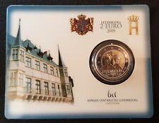 2 euro Luxemburg 2019 Charlotte coincard BU #V27