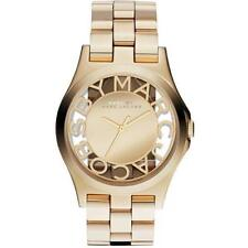 Marc Jacobs MBM3206 Womens Gold Steel Skeleton Ladies  Watch - UK Seller