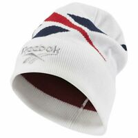 Reebok Classic Lost and Found Beanie Hat One Size White RRP £25 Brand New DH3555