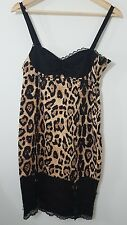 NWT Too Fast Rockit Roost Leo Piper retro rockabilly pinup cheetah lace dress, S