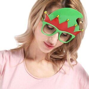 2x FUN ELF GLASSES CHRISTMAS NOVELTY XMAS PARTY FANCY DRESS ACCESSORY STOCKING