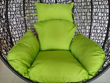 Brand New * Replacement Egg Chair Cushion set for Swing Pod Wicker Chair * Green