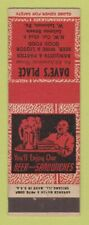 Matchbook Cover - Dave's Place West Lebanon PA ADVANCE girlie
