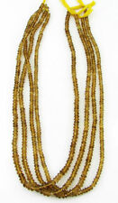 "48 Ct Natural Beer Quartz Gemstone Rondelle Loose Stone Beads String 14"" - B208"