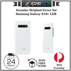 Genuine Original Samsung Galaxy S10+ LED Cover - White