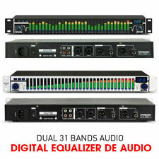 Professional Dual 31 Bands Audio Digital Equalizer LED Music Spectrum Analyzer