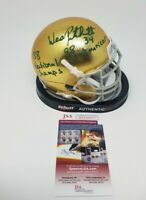Wes Wesley Pritchett Signed Autographed Notre Dame Irish AUTHENTIC Mini Helmet