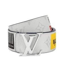 Louis Vuitton LV INITIALES 40MM BELT - Logo Story White M0162T Size 95/38 NEW