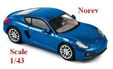 Porsche Cayman S 2013 bleu métallisé - Norev -  Echelle 1/43