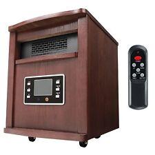 Haier 5200 BTU 1500W 6-Element Infrared Space Heater + Remote, Cherry  HHC15CPCW