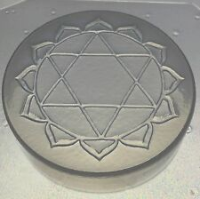 "Flexible Resin or Soap Mold Heart Chakra 3"" x 3/4"" Deep Mould"