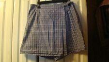 White Stag--Women's 100% Cotton Blue Jean Striped Skort --size 16