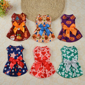 Small Pet Dog Cat Party Clothes Christmas Costume Puppy Doggy Halloween Dress
