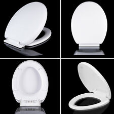 Soft Close Toilet Seat Slow Oval Toilet Seat With Fittings Hinges White WC Seats