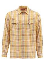 Simms Legend Long Sleeve Shirt Bright Yellow Plaid - Size XL -CLOSEOUT