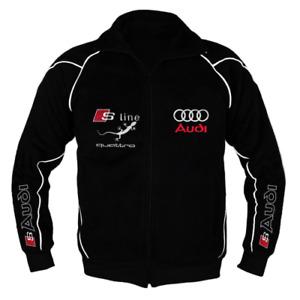 AUDI Trainings Jacke Sport Hergestellt in Europa mit Stickerei ALLE Größe
